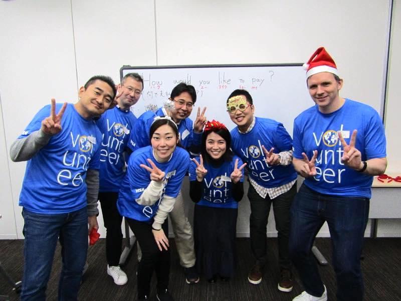 12月9日 Visa様のご協力により「英語でショッピング」を開催しました!