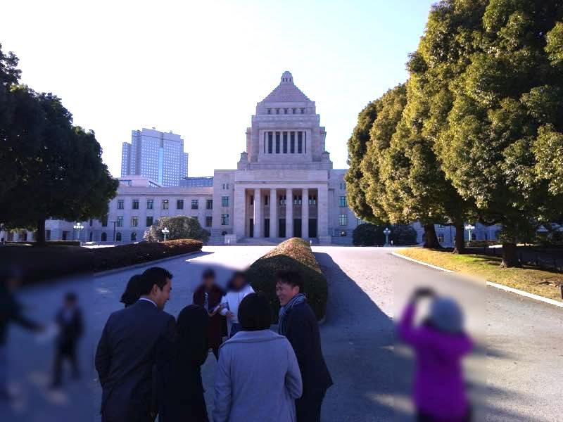 12月28日 国会議事堂社会見学と英語でのプレゼンテーションを行いました!